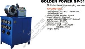 golden power GP51 crimping machine mesin pres selang hidrolik