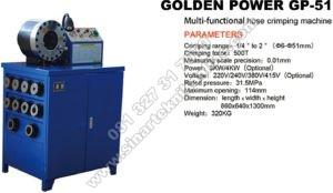 golden power GP51 crimping machine mesin pres selang hidrolik